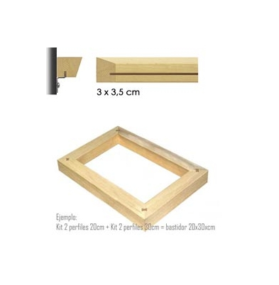 Marco Bastidor (3x3,5) Kit 2 Perfiles 120Cm