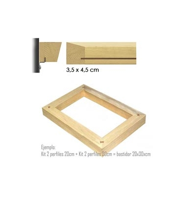 Marco Bastidor (3,5x4,5) Kit 2 Perfiles 110Cm