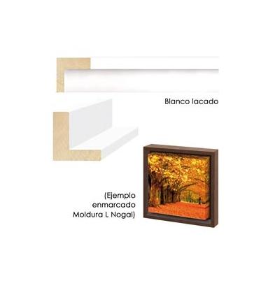 Marco L Bastidor New  40x50 Blanco Lacado