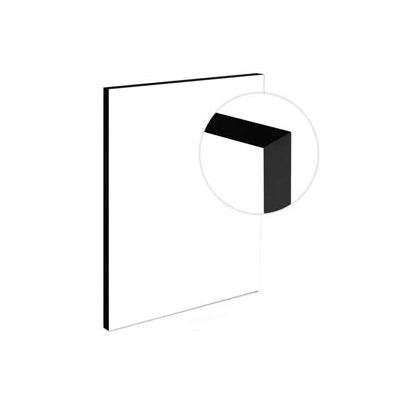 Light-Panel   20x60 19mm - adhesivado - Canto Negro |