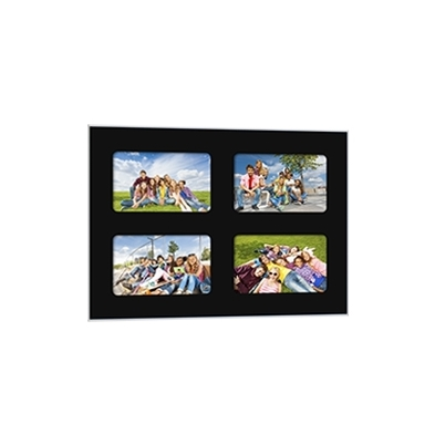Quick-Panel 30x40 para 4 foto 10x15 Negro