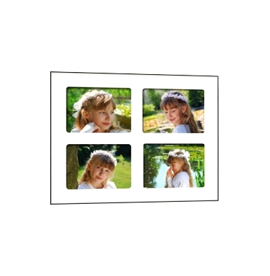 Quick-Panel 40x50 para 4 foto 15x20 Blanco
