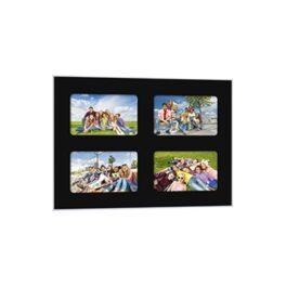 Quick-Panel 40x50 para 4 foto 15x20 Negro