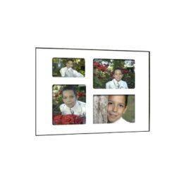 Quick-Panel 40x50 para 3 foto 15x20 + 1 foto 10x15 Blanco