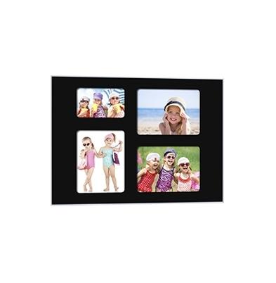 Quick-Panel 40x50 para 3 foto 15x20 + 1 foto 10x15 Negro