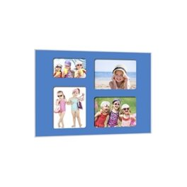 Quick-Panel 40x50 para 3 foto 15x20 + 1 foto 10x15 Azul