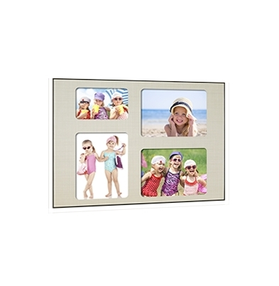Quick-Panel 40x50 para 3 foto 15x20 + 1 foto 10x15 Tesuto