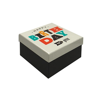 Caja Regalo 11x11x6 cm Modelo Happy Birthday
