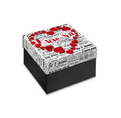 Caja Regalo 11x11x6 cm Modelo I Love You