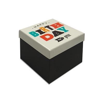 Caja Regalo 11x11x10 cm Modelo Happy Birthday