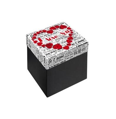 Caja Regalo 11x11x10 cm Modelo I Love You