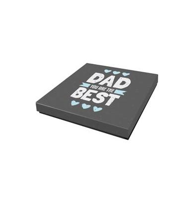 Caja Regalo 23x23x4 cm Modelo Best Dad (papas)