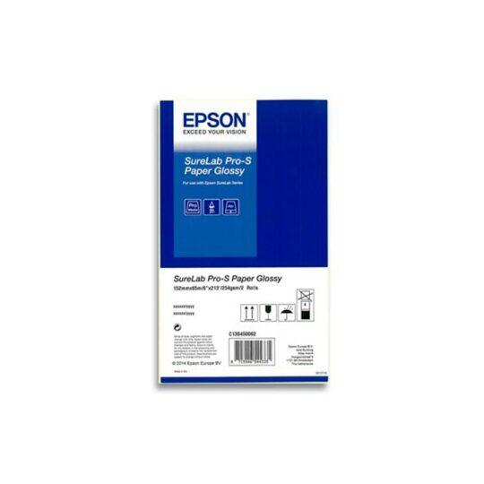 Papel Inkjet Epson SureLab 15,2x65 Brillo Caja con 2 Rollos