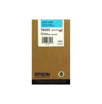 Cartucho Tinta - Epson Stylus Pro  7880 Cian Claro 220 ml | T6035