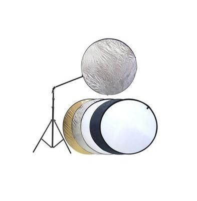 Iluminación Fotima Kit Reflector 5 en 1 107cm + Soporte + Pie Robusto