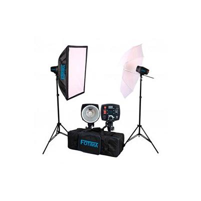 Iluminación Fotima Kit Flash Estudio PRO 2X180W FTF-180 Bowens