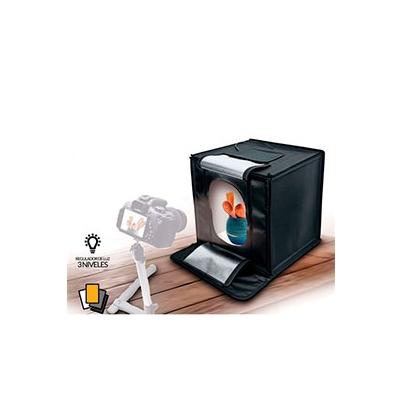 Iluminación Fotima Kit Mini Estudio 70x70 con Iluminación LED