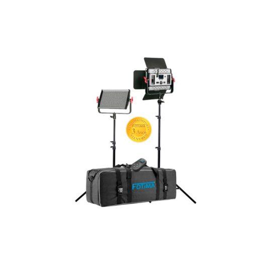 Iluminación Fotima Kit Led Estudio Profesional FTL-600 Pro 40W 6000LM