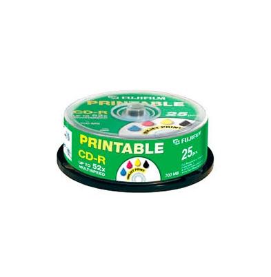CD-R 700 Mb 52x Printable Inkjet Lata 25 u. Fuji