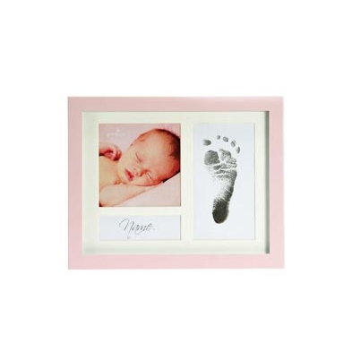 Marco Fotos Metalico - Goldbuch Mod. Baby First Step Multi-Foto Rosa | 930017