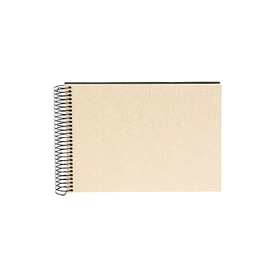 Goldbuch Bella Vista Album de Pegar 24x17 cm Espiral 40 hojas negras Gris Arena