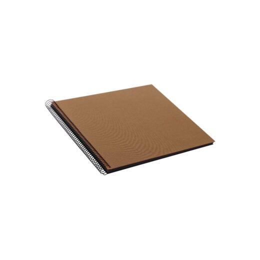 Album de Pegar - Goldbuch 35x30 Bellavista Bronce 40 hojas negras Espiral | 25716