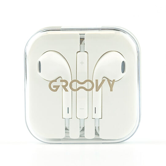 Groovy Auricular Earbuds cable, Control volumen, Micrófono, Gris Pack 5 u.