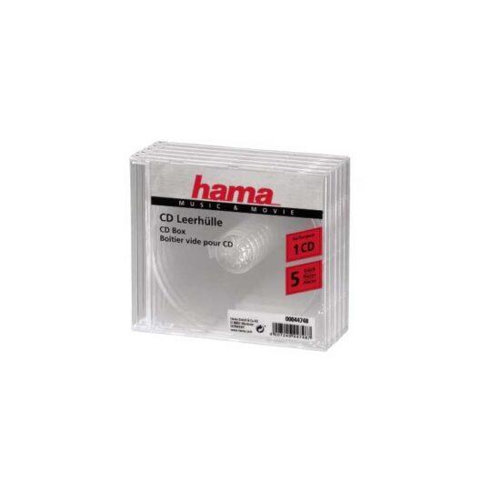 Caja Cd/Dvd Hama P/1 CD 5 u.