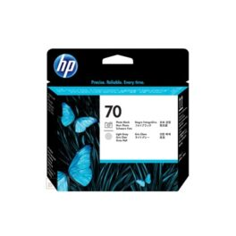 Cartucho Tinta - HP 70 Cabezal Negro foto + Gris claro