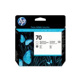 Cartucho Tinta - HP 70 Cabezal Gris + Potenciador Brillo