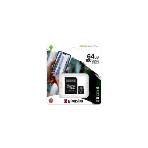 Tarjeta Memoria SDHC Micro   64Gb Kingston C. Select Plus 100 Mb/s C10 UHS-I U1 | SDCS2/64GB