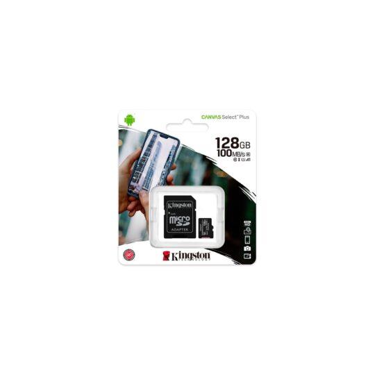 Kingston Tarjeta Memoria SDXC Micro 128Gb Kingston C.Select Plus 100 Mb/s C10 UHS-I U1