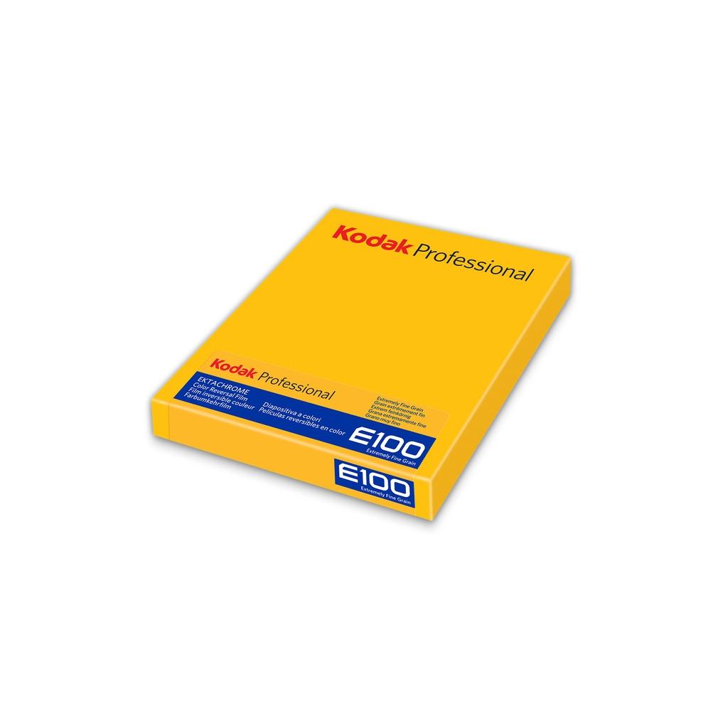 """Kodak Ektachrome E100 4x5"""" Película Diapositiva Color Pack 10 Hojas"""
