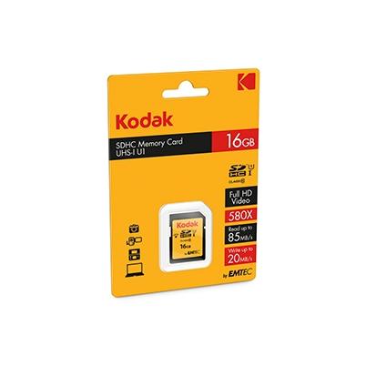 Tarjeta Memoria SDHC   16Gb Kodak 85 Mb/s C10 UHS-I U1 | K143211