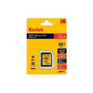 Tarjeta Memoria - SDHC   32Gb Kodak 85 Mb/s C10 UHS-I U1   K143242