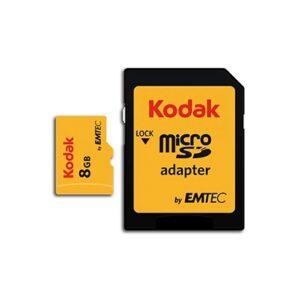 Tarjeta Memoria - SDHC Micro    8Gb Kodak 20 Mb/s C10 | K158291