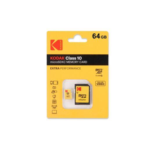 Tarjeta Memoria SDXC Micro   64Gb Kodak 20 Mb/s C10 | K143600