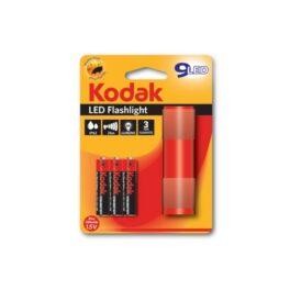 Linterna - Kodak LED 9 con 3 pilas AAA Roja