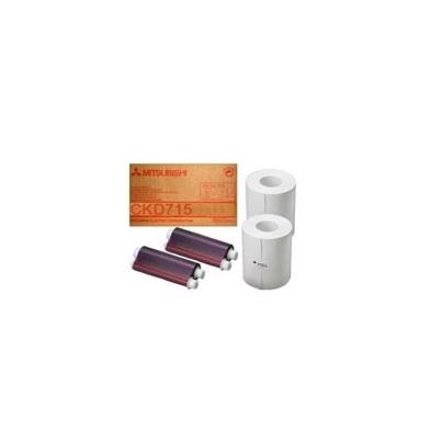 Papel Térmico Mitsubishi CK-D715 10x15 Rojo 800 Fotos | 485076