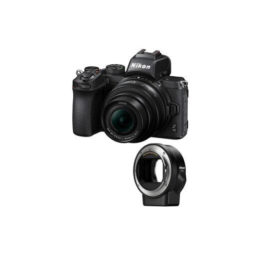 Camara Evil - Nikon Z50 con Objetivo DX 16/50mm VR y Adaptador FTZ, | VOA050K004