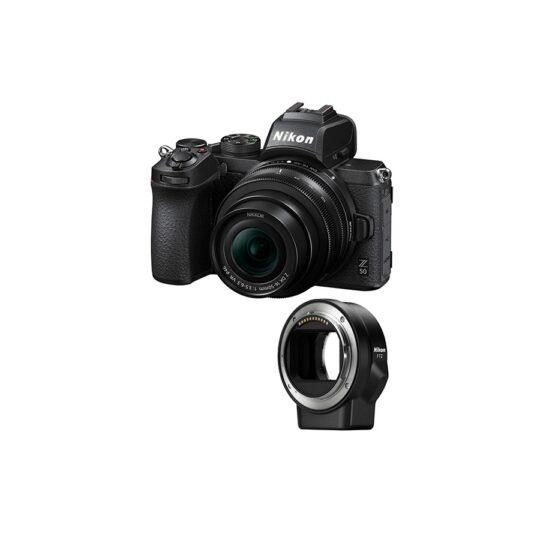 Nikon Cámara Evil Z50 + Objetivo DX 16-50mm VR y Adaptador FTZ