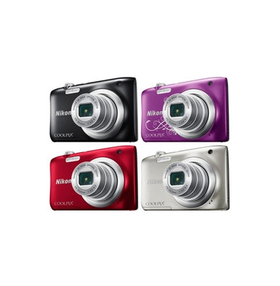 Camara Compacta - Nikon Coolpix A100 Purpura Kit | 999A100PU1