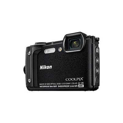 Nikon Cámara Compacta Coolpix W300 Negra Kit Holiday Sumergible 30 mts