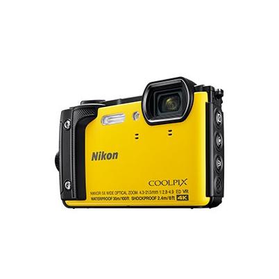 Nikon Cámara Compacta Coolpix W300 Amarillo Kit Holiday Sumergible 30 mts