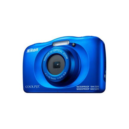 Cámara Compacta Nikon Coolpix W150 Azul Kit Sumergible 10 mts | VQA111K001