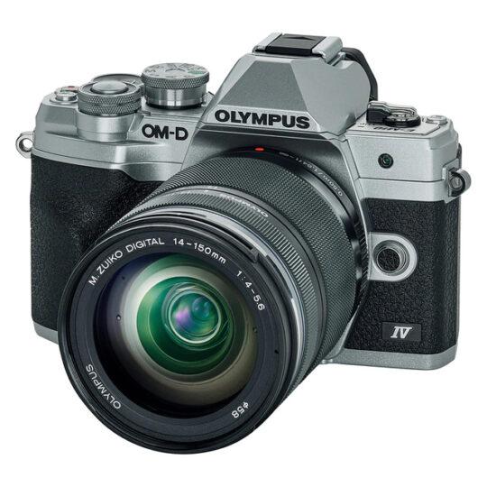 Olympus Cámara Evil OM-D E-M10 Mark IV Plata Objetivo 14-150mm Negro