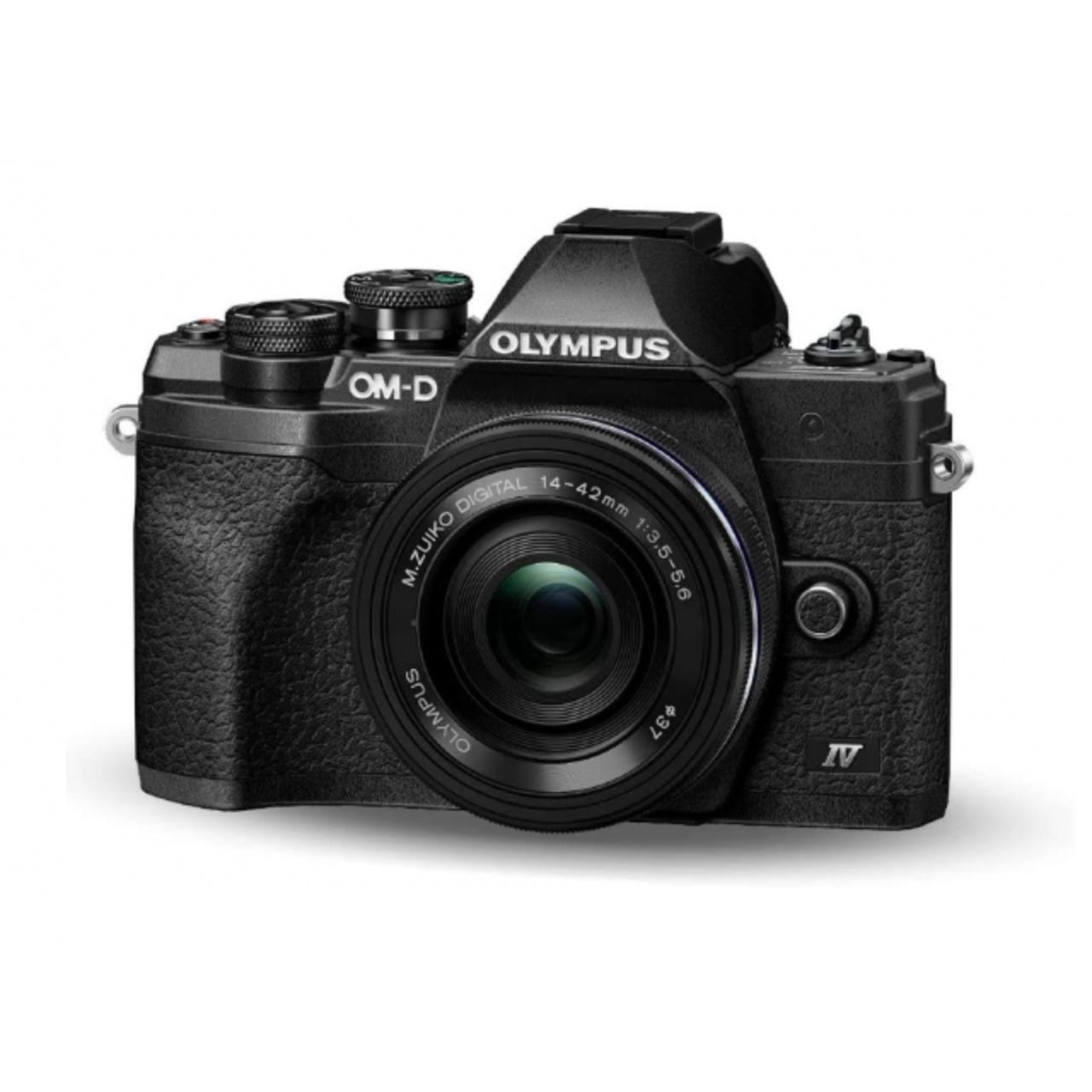 Olympus Cámara Evil OM-D E-M10 Mark IV Negra Obj.14-42EZ+40-150 R Negro/Negro