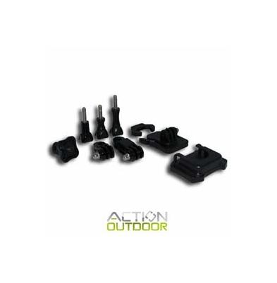 Action Outdoor Soporte Adhesivo Frontal y lateral. Fast clip con adhesivo curvo 3M