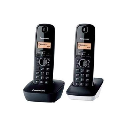 Teléfono inalámbrico Panasonic TG1612 Duo Blanco y Negro