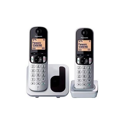 Teléfono inalámbrico Panasonic TGC212 Duo Gris